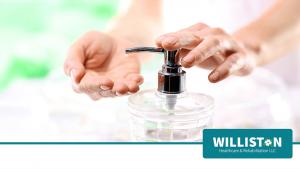 Female Washing Hands at Williston Healthcare & Rehabilitation