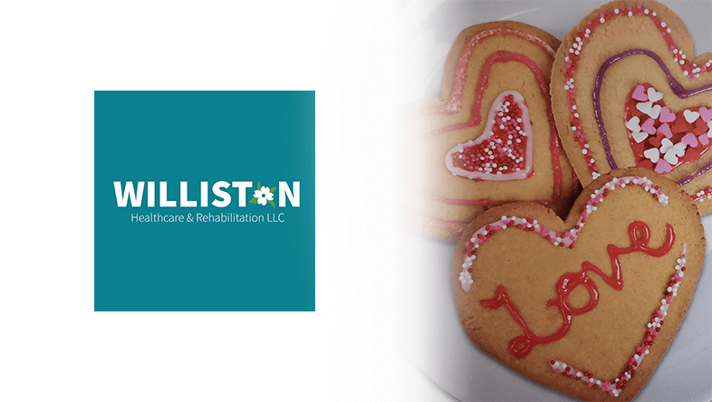 Valentines Day Cookies at Williston Healthcare and Rehabilitation in Williston SC