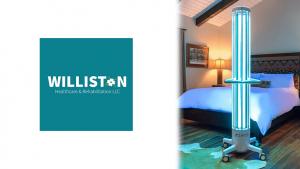 Williston Logo and Rzero Hospital Grade UV-C Lighting Hospital Grade Disinfection System